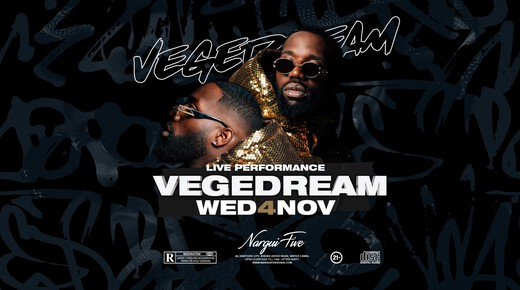 Vegedream Live Performance - 04.11.20 at Nargui Five Dubai event at Nargui Five Dubai