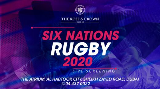 Six Nations 2020 event at The Rose & Crown Dubai