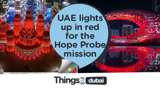 UAE lights up in red as Hope probe approaches Mars