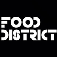 Restaurant Food District Logo